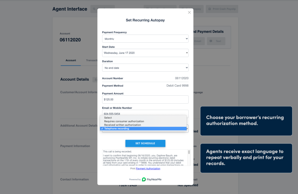 recurring payment authorizations