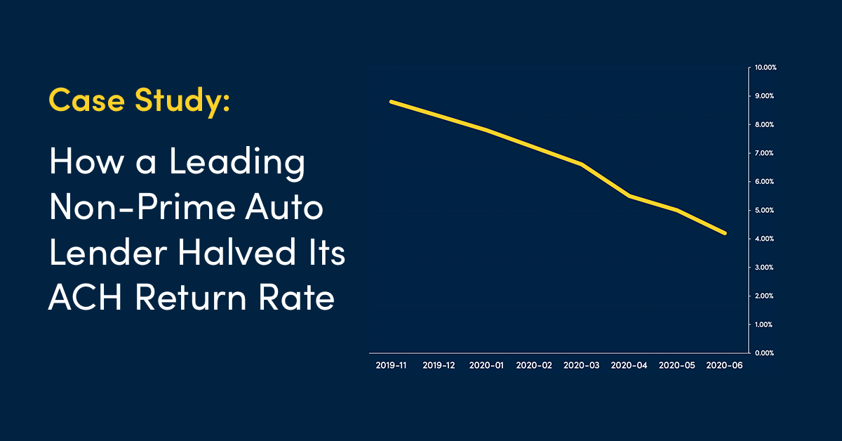 Case Study: How a Leading Non-Prime Auto Lender Cut Its ACH Return Rate in Half with PayNearMe