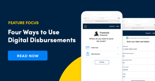digital disbursements feature